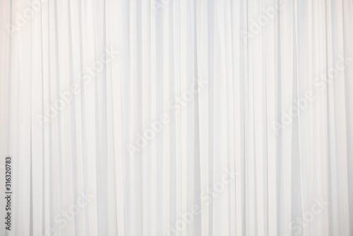 Cuadros en Lienzo The white curtain that dropped down as a straight line