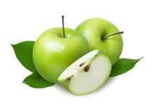 Two Green Whole Apples And A C...