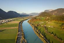 Aerial View Of Highway Interst...