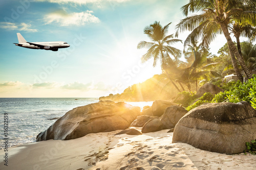 Sunset At Anse Intendance, Mahe Island, Seychelles Wallpaper Mural