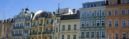 Old historical building facades in Karlovy vary Wallpaper Mural