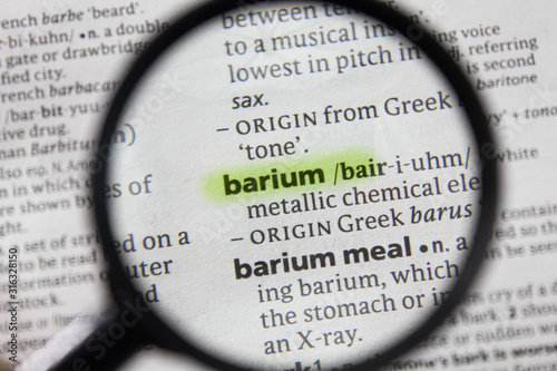 The word or phrase barium in a dictionary. Wallpaper Mural