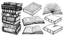 Books Vector Collection Sketch...