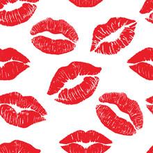 Lipstick Kiss Print Isolated S...