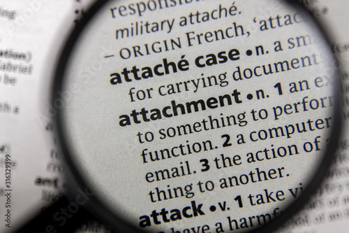The word or phrase attachment in a dictionary. Wallpaper Mural