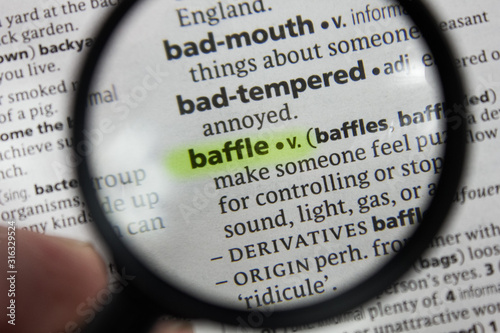 The word or phrase baffle in a dictionary. Canvas Print