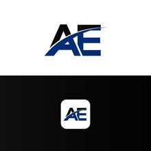 AE Logo Letter Design Template...