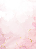 Blush pink watercolor fluid painting vector design card - 316335747