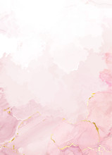 Blush Pink Watercolor Fluid Pa...