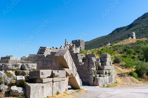 Ruins of the Arcadian gate and walls near ancient Messene(Messini) Canvas Print