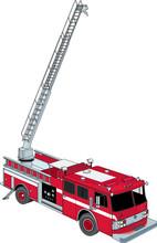 Fire Ladder Truck Vector Illus...