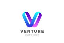 Letter V Logo Design Vector Te...
