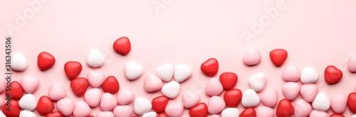 Heart Candy background Wallpaper Mural