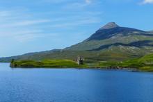 Verfallenes Schloss, Burg Ardvreck, Am Loch Assynt In Den Highlands Von Schottland