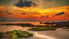Sunrise Tropical Sea Landscape...