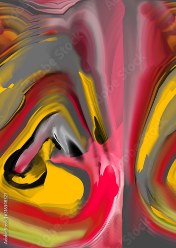 Photo  Abstract design with art and texture elements