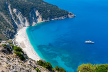 Myrtos Beach In Kefalonia, Gre...