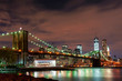 Brooklyn Bridge at Night New York City