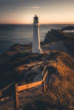 Sunset At Castle Point Lightho...