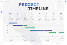 Vector Project Timeline Graph,...