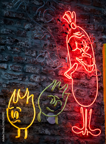 Neon Signs on wall
