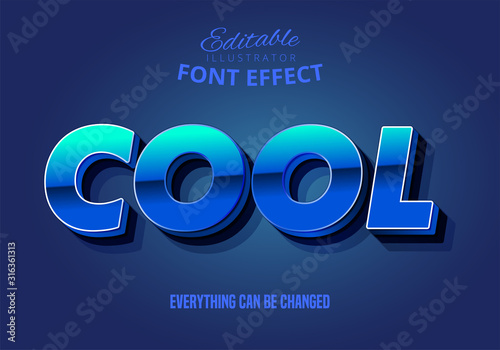 Strong bold 3d text style with dark extrude and cool word Lerretsbilde