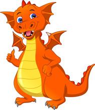 Cartoon Dragon Thumb Up