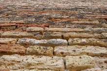 Ancient Stone Wall Texture Wit...