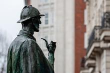 Sherlock Holmes Statue Outside...