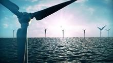 3d Rendering, Light, Ecology, Outdoor, Industry, Field, Environmental, Wind, Renewable, Ocean, Environment, Offshore, Water, Technology, Electricity, Green, Turbine, Sky, Energy, Power, Farm, Sea, Gen