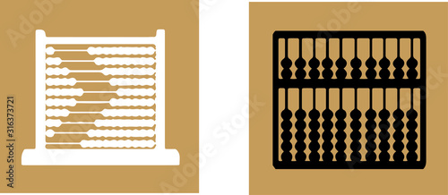 abacus icon isolated on background Canvas Print