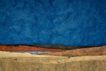 Abstract Nighttime Landscape - Colorful Textured Paper Sheets