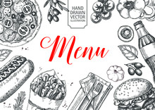 Template Of Fast Food Menu Des...