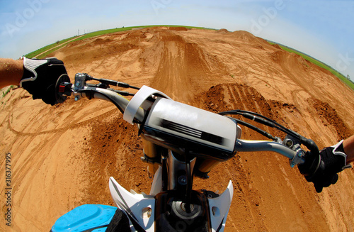 Motocross POV Canvas Print