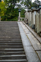 Long Steep Stairway In A Buddh...