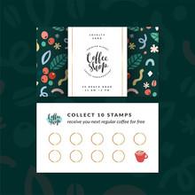 Coffee Shop Loyalty Card, Disc...