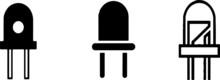Led Icon Isolated On White Bac...