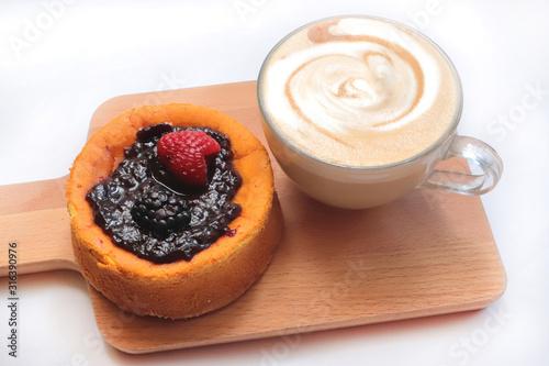 cappuccino e torta Wallpaper Mural