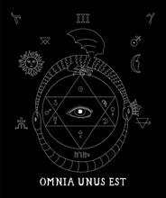Alchemy. All-seeing Eye Occult...