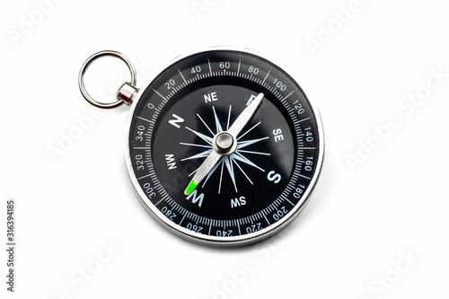 Fototapeta compass on white background.Isolated obraz