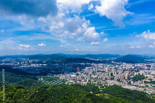 Obraz overlooking city of Guangzhou in China - fototapety do salonu
