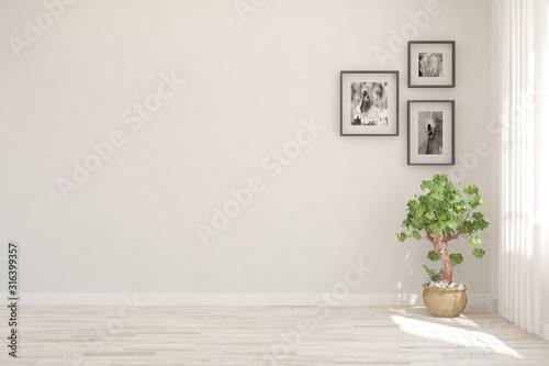 Foto Empty room in white color