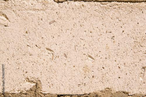 Photo background of mesh surface aerated concrete blocks