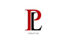Pl Logo Design Simple Luxury