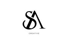 Sa Logo Design Initial Vector ...