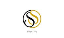 Ss Logo Design Vector Icon Lux...