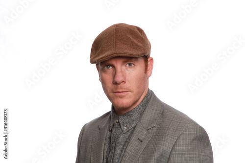 Canvas Print British fashion on male model