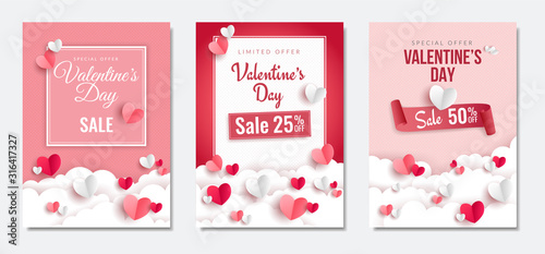 Photo Valentine's day Sale posters set