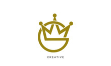 G Crown Logo Design Vector Lux...