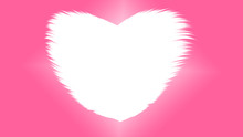 The Pink Wallpaper Has A Free Space In The Middle Of A Heart Shaped, Valentines Day Style.